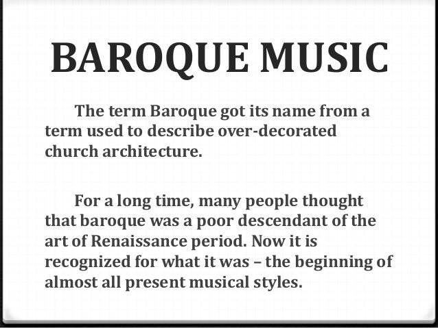 The baroque period 1 for What is the baroque period