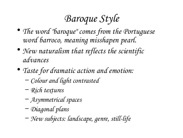 History lecture 3 baroque architecture for Origin of the word baroque
