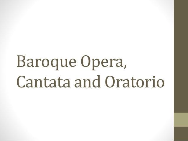 similarities between opera and oratorio