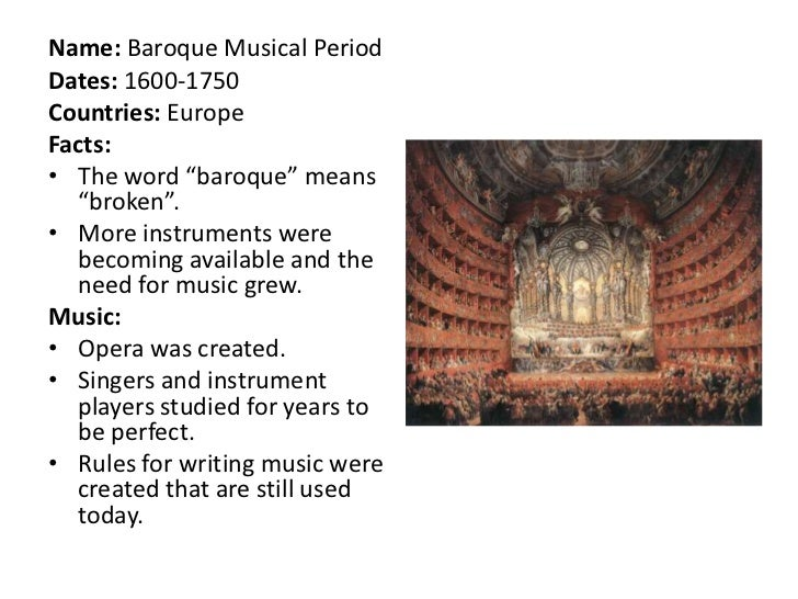Baroque music for What is the baroque period