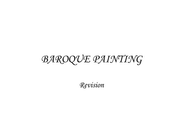BAROQUE PAINTING Revision