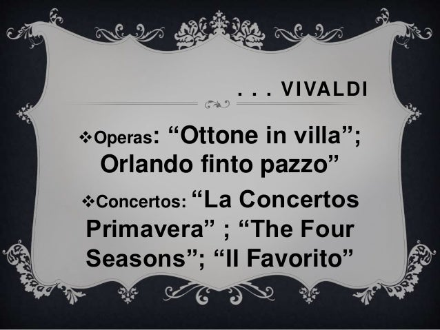 Vivaldi four seasons essay