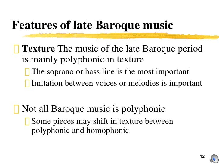 Baroque period part 1 for What are the characteristics of baroque period