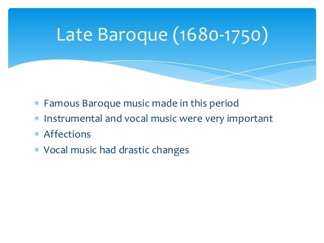 A powerpoint presentation about baroque music for Characteristics of baroque period