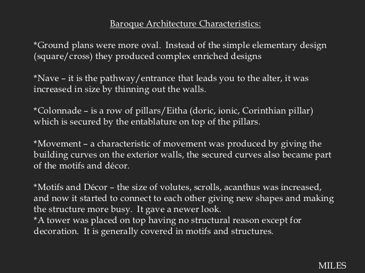 Baroque presentation for Baroque architecture characteristics list