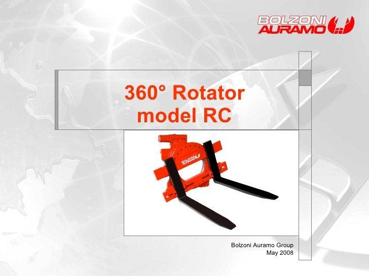 360° Rotator model RC Bolzoni Auramo Group May 2008