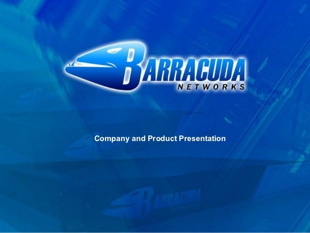 Company and Product Presentation