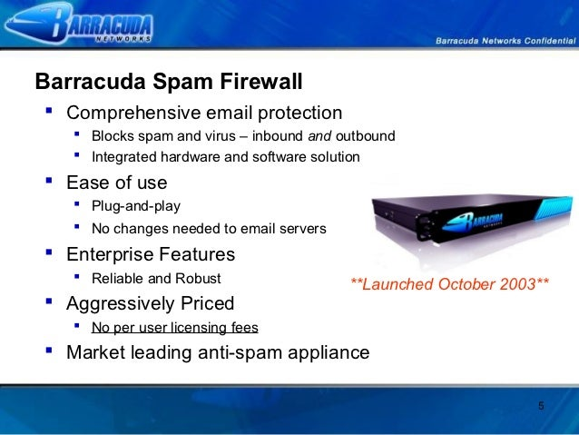 Barracuda Spam Firewall