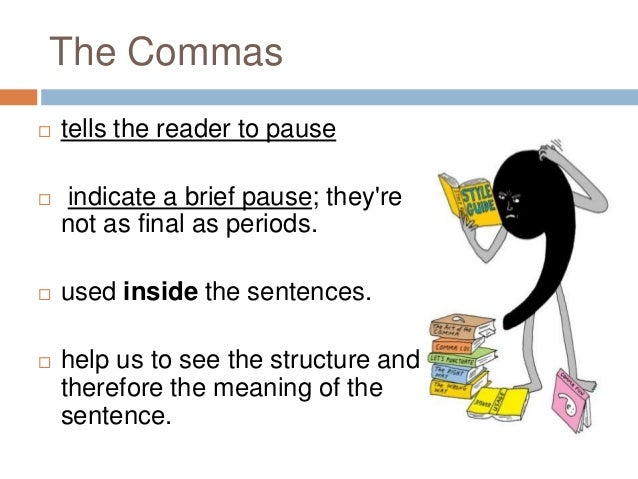 how to write and therefore punctuation