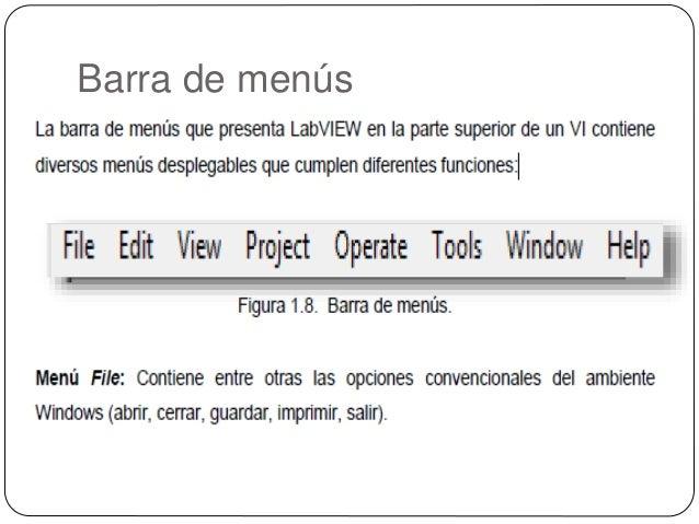 Barras de herramientas en labview Slide 2
