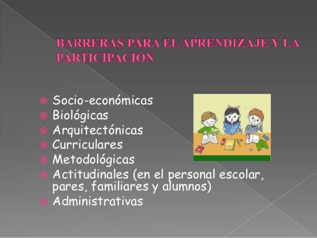 Barreras para el aprendizaje Slide 3