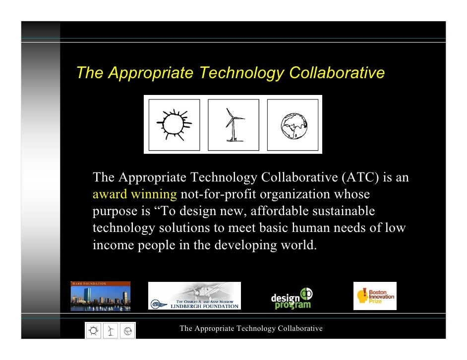 John Barrie: The Appropriate Technology Collaborative - How to end poverty using clean, green technology Slide 2
