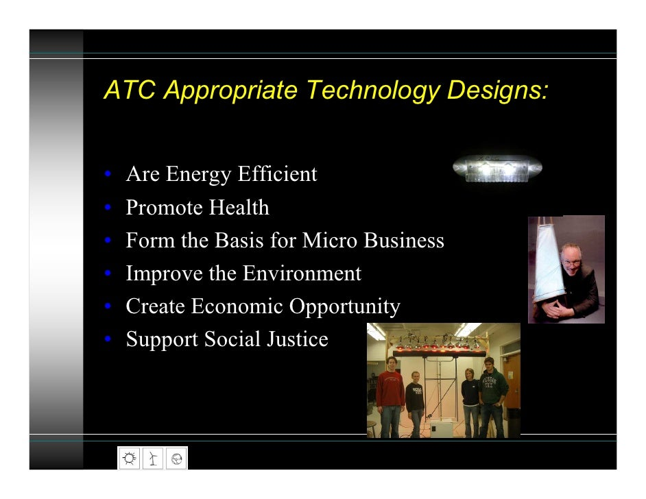John Barrie: The Appropriate Technology Collaborative - How to end poverty using clean, green technology Slide 3