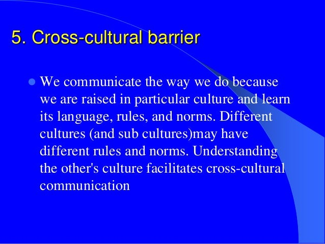 barriers to cultural understanding body language