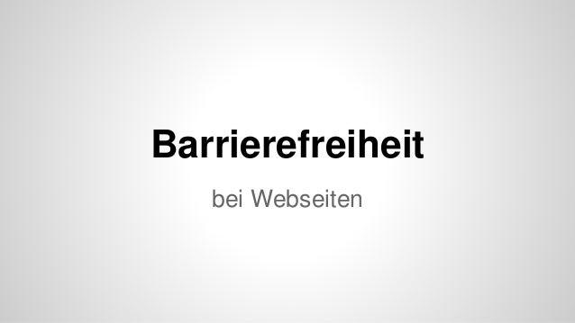Barrierefreiheit bei Webseiten
