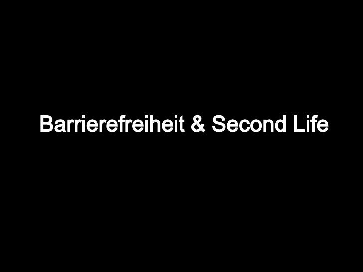 Barrierefreiheit & Second Life