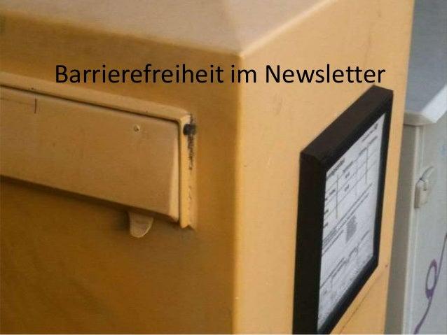 Barrierefreiheit im Newsletter