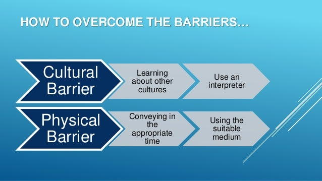 how to overcome listening barriers Effective listening skills allow individuals to retain information by showing   there are specific techniques that will help individuals overcome listening  barriers.