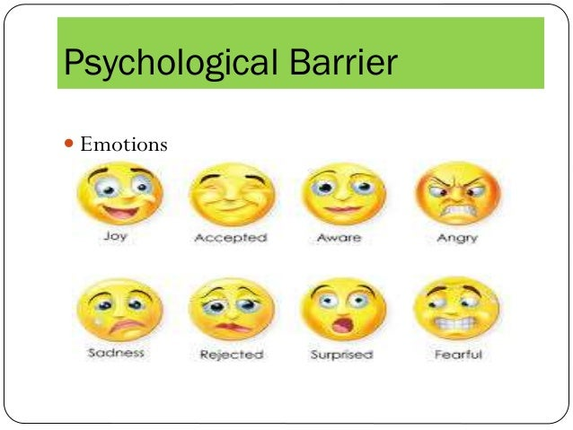 Psychological Barriers...