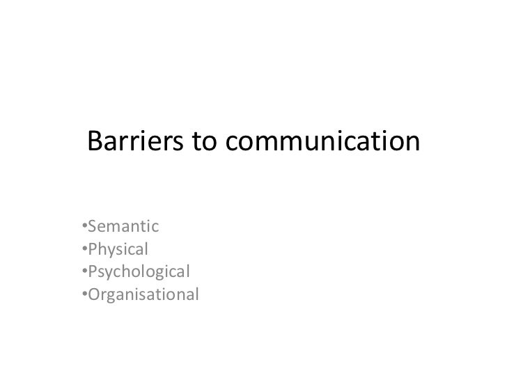 barriers to communication in public organisations Why health communication is important in public health rajiv n rimal a & maria k lapinski b a department of health, behavior and society, johns hopkins university, baltimore, md, united states of america (usa.