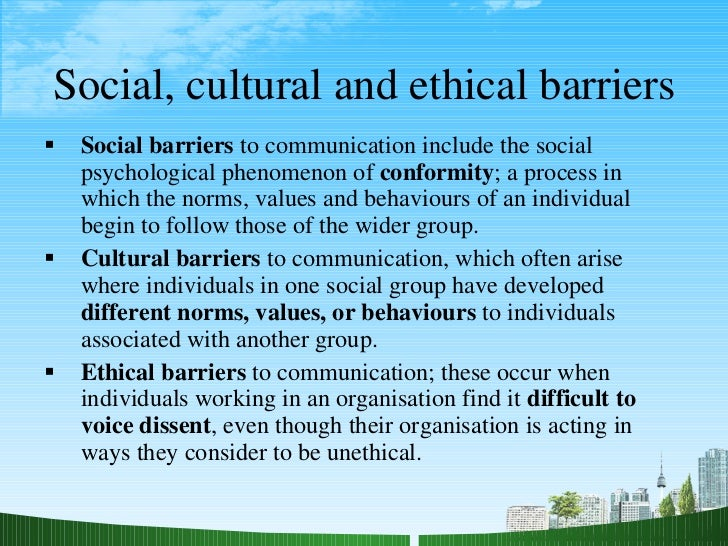culture as a barrier to development