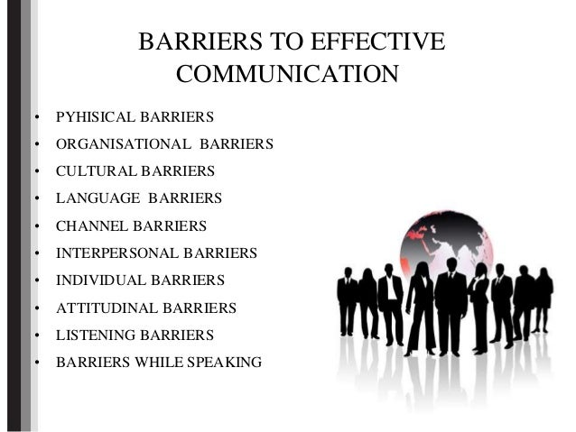 Barriers to Effective Communication Powerpoint Presentation