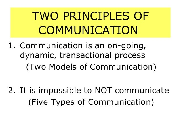 principles of small group communication Communication: definition, principles, elements and means of communication definition and principles of communication: communication involves giving or receiving a.