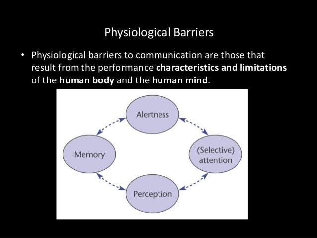 physiological barriers to effective communication