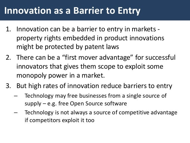 Barriers to entry 3 essay