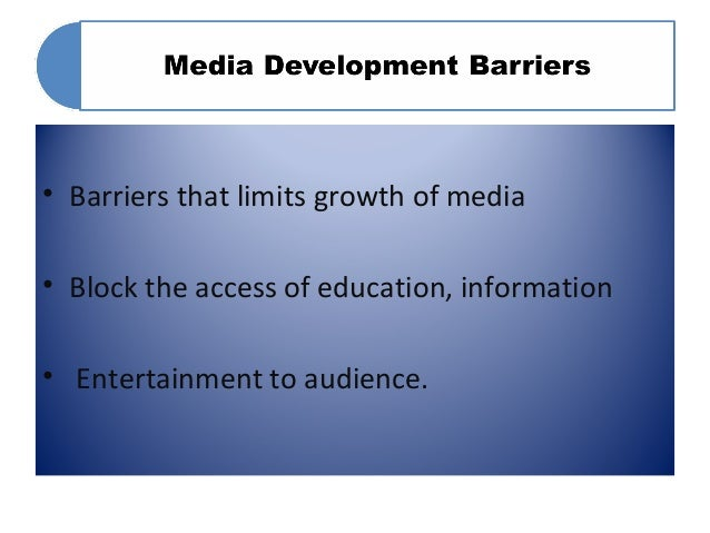 barriers of development Analysis of barriers to entrepreneurship in small 1- identification of barriers to entrepreneurship in small and medium development challenges and barriers.
