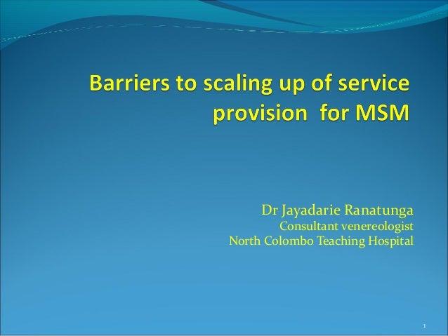 Dr Jayadarie Ranatunga Consultant venereologist North Colombo Teaching Hospital 1