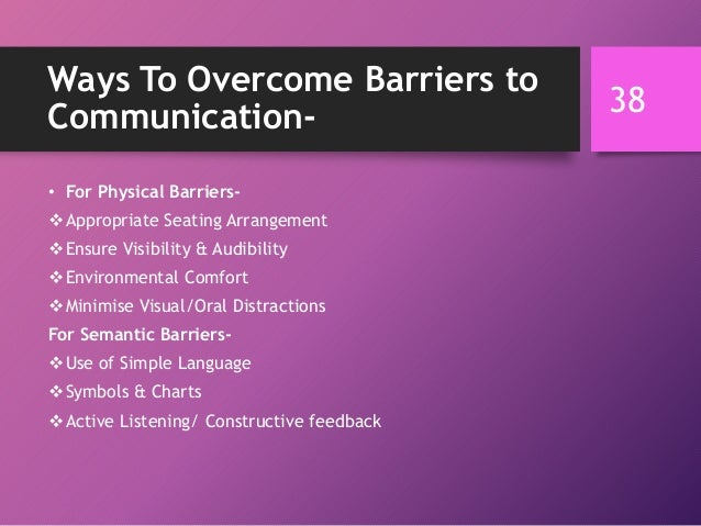 communication barriers workplace This problem usually arises due to communication barriers at workplace if these  communication barriers are not catered on time, it is likely that.