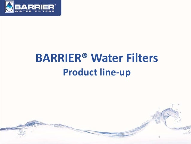 BARRIER® Water Filters Product line-up 1