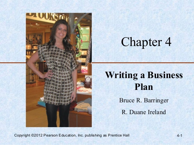 Chapter 4                                                    Writing a Business                                           ...