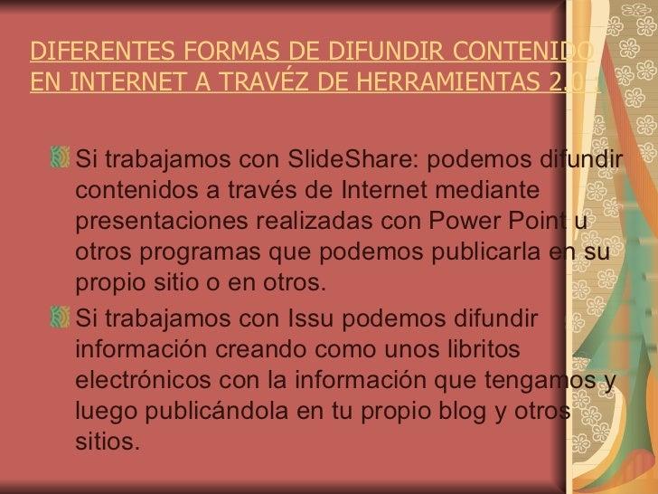 FORMAS DE DIFUNDIR LA INFORMACION Slide 2