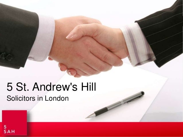 Solicitors in London 5 St. Andrew's Hill