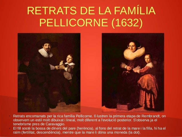 LA RONDA DE LA NIT (1642) ● Rembrandt va trencar amb el Doelen tradicional de l'època en captar «fotogràficament» una acci...