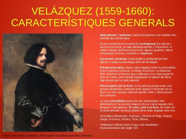 VELÁZQUEZ: 1r VIATGE A ITÀLIA (1629-1631) ● És Rubens qui l'animà a anar. Coneix més de prop l'obra de Miquel Àngel, Rafae...
