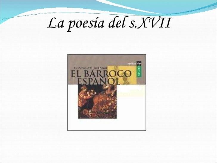 La poesía del s.XVII