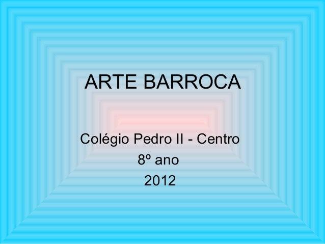 8o ano 2015 - 2o trim - Barroco x classico