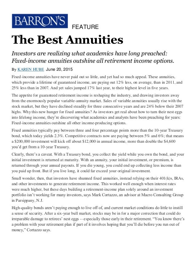 the best annuities