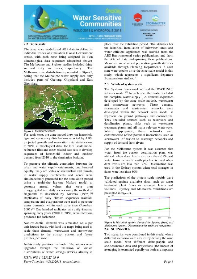 Planning for water sensitive communities: the need for a bottom up systems approach Slide 3