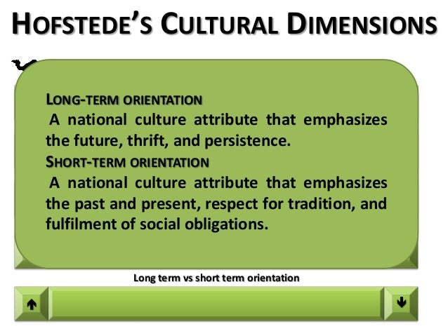 identify the five cultural dimensions identified by geert hofstede and describe them indicating thei