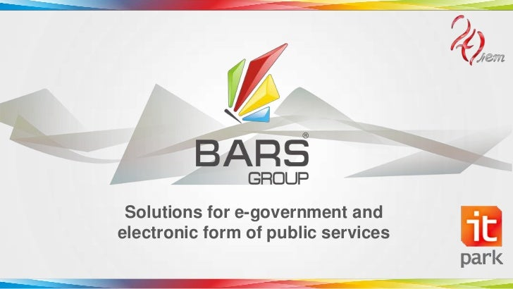 Solutions for e-government andelectronic form of public services