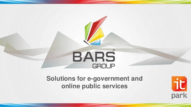 Solutions for e-government and     online public services