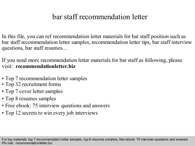 Reference Letter For Staff Interview Questions And Answers  Free