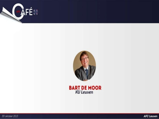 """""""Exploitation of research, technology and know how transfer"""" Bart De Moor, chairman IRF (IOF)"""