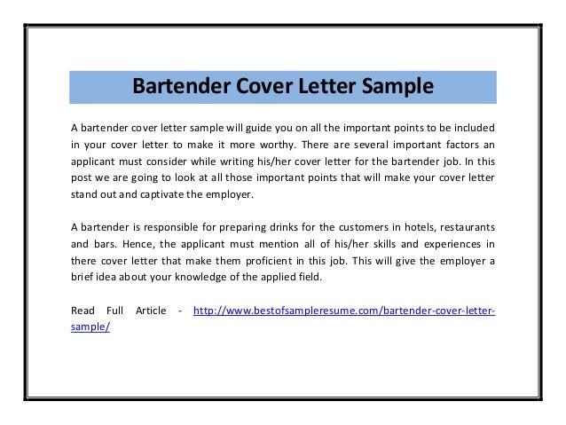 Bartender cover letter sample pdf bartender cover letter sample spiritdancerdesigns Image collections