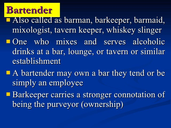 the history of bartending The owner of abc bartending school, tony sylvester, opened his first classroom  in 1977, and the rest is now history abc is one of the largest bartender training.