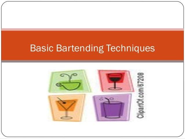 Basic Bartending Techniques